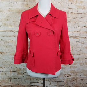 Halogen Nordstrom Red Cotton Jacket